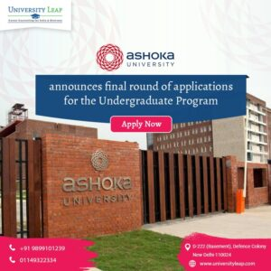 Ashoka University, Study in India