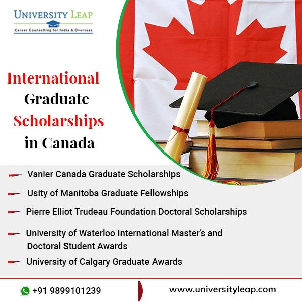 scholarships for international students in canada by certified study abroad education consultants