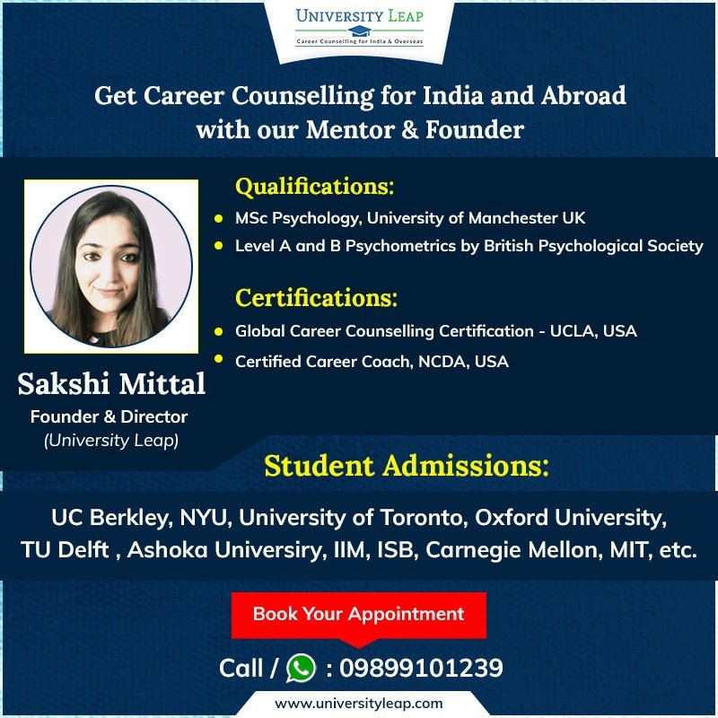 Sakshi Mittal - best career counsellor in Delhi
